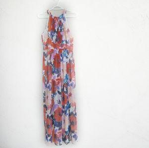 ELIZA J Floral Print Halter Maxi Dress Size 4
